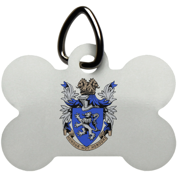 Atlee coat of arms UN5771 Dog Bone Pet Tag