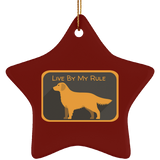 Live by my rule SUBORNS Ceramic Star Ornament