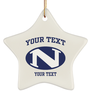 N logo personalized SUBORNS Ceramic Star Ornament