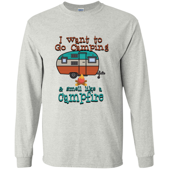 Smell Like A Campfire LS Ultra Cotton Tshirt