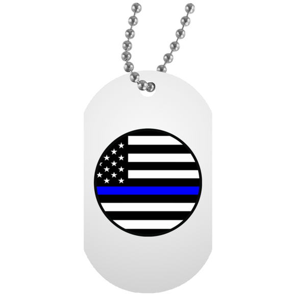 blm circle UN5588 White Dog Tag