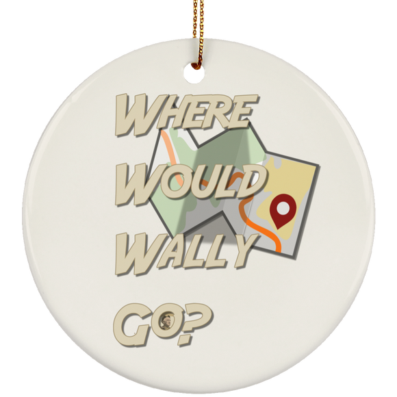 wwwg-map SUBORNC Ceramic Circle Ornament