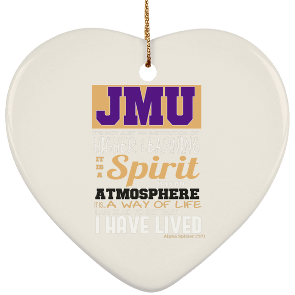 Jmu way of life 2 SUBORNH Ceramic Heart Ornament