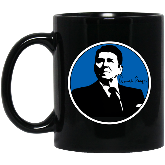 Reagan Blue BM11OZ 11 oz. Black Mug