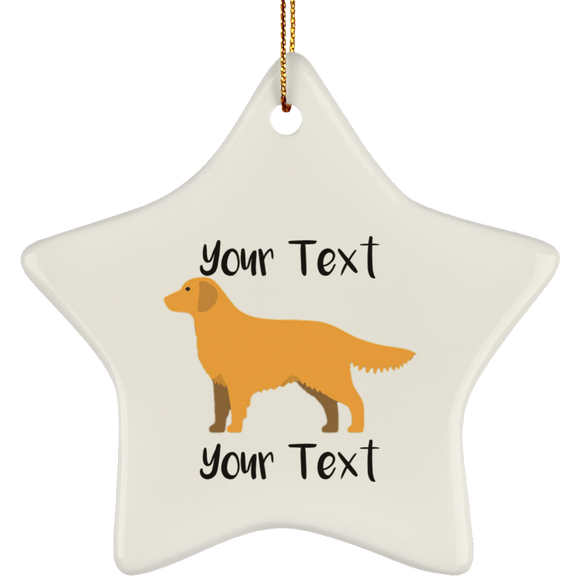 golden w text SUBORNS Ceramic Star Ornament