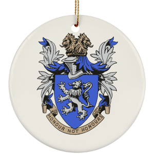 Atlee coat of arms SUBORNC Ceramic Circle Ornament
