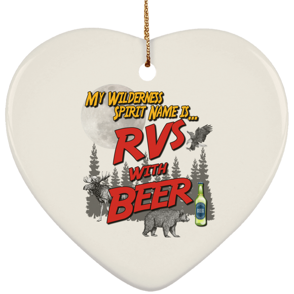 RVs with Beer 2500x3000 SUBORNH Ceramic Heart Ornament