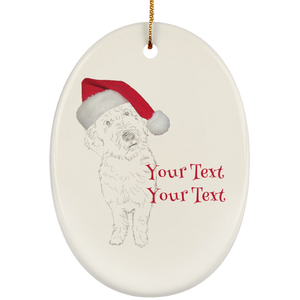 baden with hat personalized SUBORNO Ceramic Oval Ornament