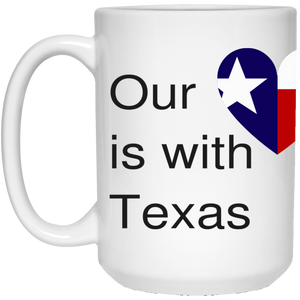 Our Heart is with Houston 15 oz. White Mug