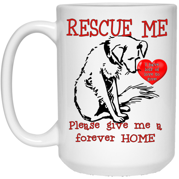 Rescue me 21504 15 oz. White Mug