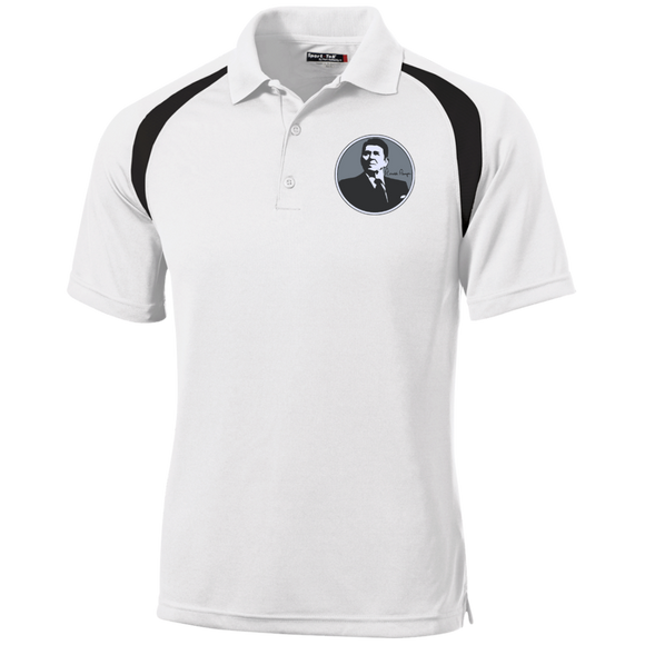 Reagan Gray Circle T476 Sport-Tek Moisture-Wicking Tag-Free Golf Shirt