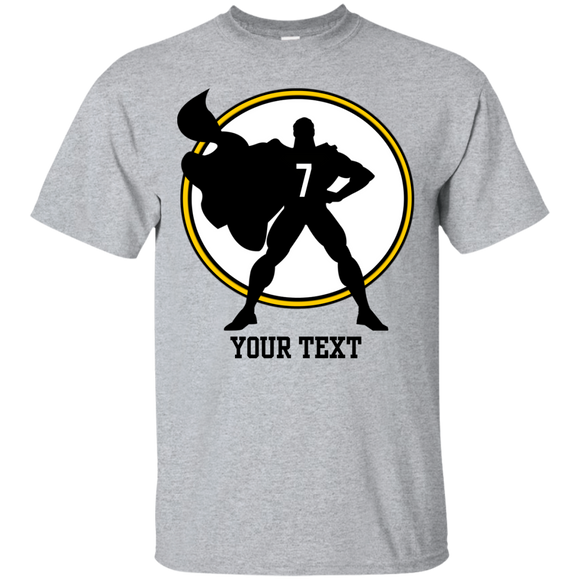 Custom Text & Number Ultra Cotton T-Shirt