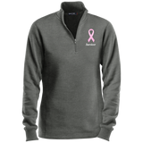 LST253 Pink Ribbon Survivor Ladies' 1/4 Zip Sweatshirt