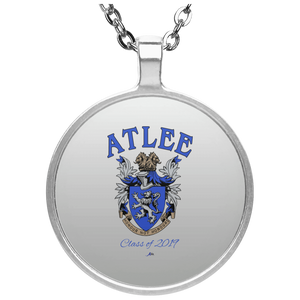 Atlee Crest Personalized UN4686 Circle Necklace