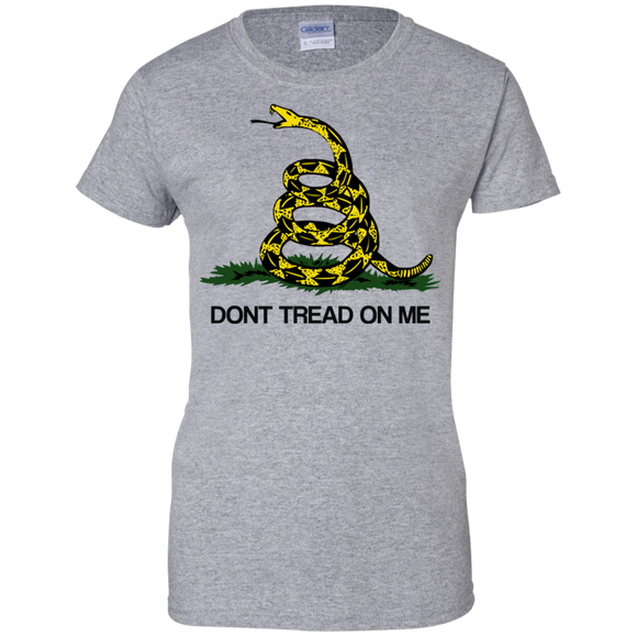 Gadsden Snake Ladies Custom 100% Cotton T-Shirt