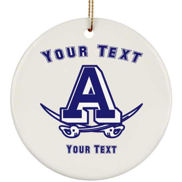 Atlee Swords Personalized SUBORNC Ceramic Circle Ornament
