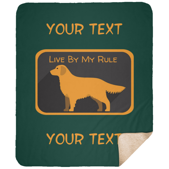 My Rule Text DP1731 Large Fleece Sherpa Blanket - 50x60