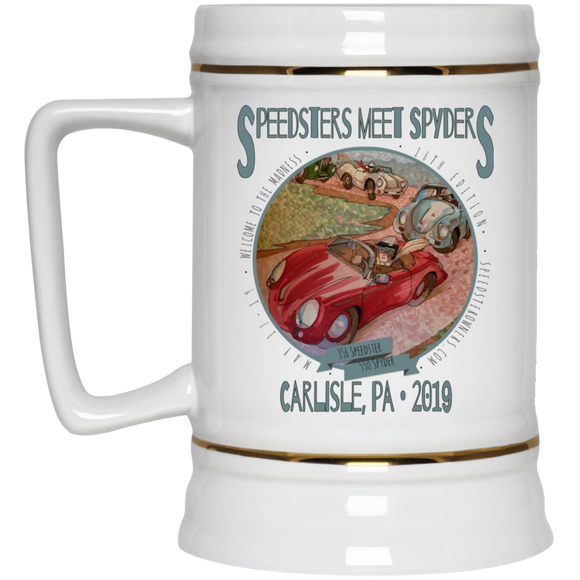 Speedsters Meet Spyders Personalize 22217 Beer Stein 22oz.