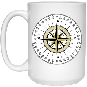 Compass 21504 15 oz. White Mug