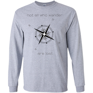 Not All Who Wander LS Ultra Cotton Tshirt