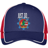 Just Go Colorblock Mesh Back Cap
