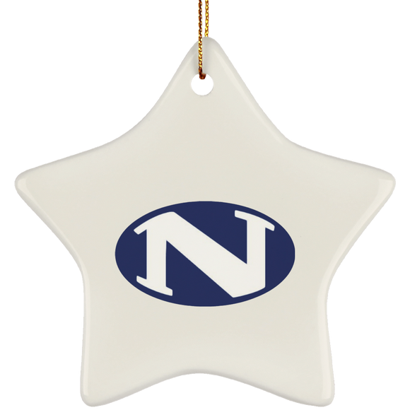 N logo SUBORNS Ceramic Star Ornament