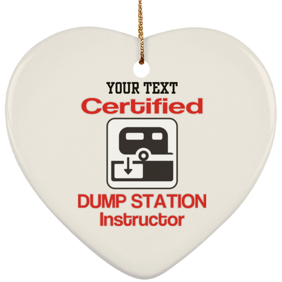 CERT DUMP INST SUBORNH Ceramic Heart Ornament