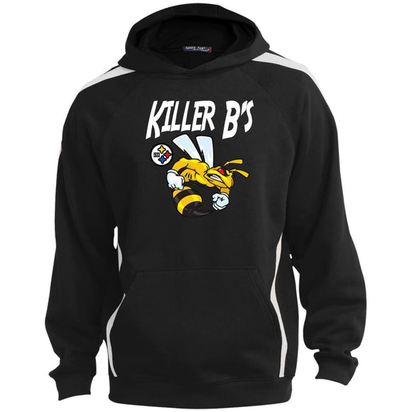 Killer B design ST265 Sport-Tek Sleeve Stripe Sweatshirt with Jersey Lined Hood