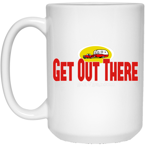 Get out there 21504 15 oz. White Mug
