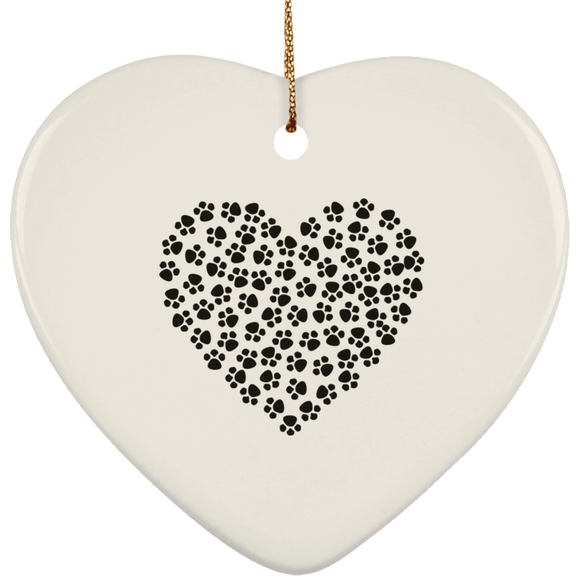 paw heart SUBORNH Ceramic Heart Ornament