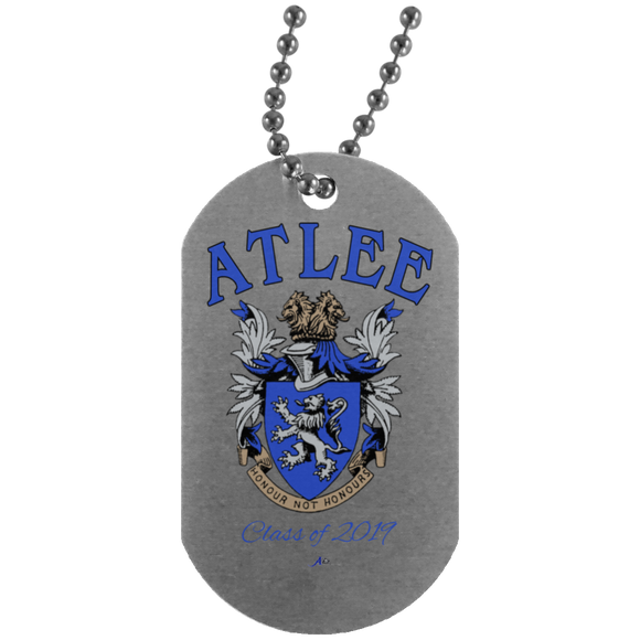 Atlee Crest Personalized UN4004 Silver Dog Tag