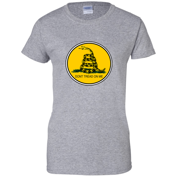 GADSDEN CIRCLE Ladies Custom 100% Cotton T-Shirt