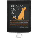 So God Made A Dog BLK SB210 Medium Shoulder Bag