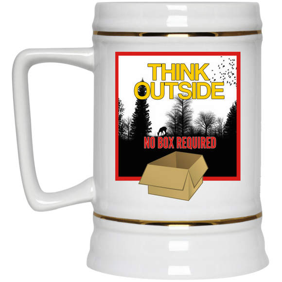 Think Outside Beer Stein - 22 oz