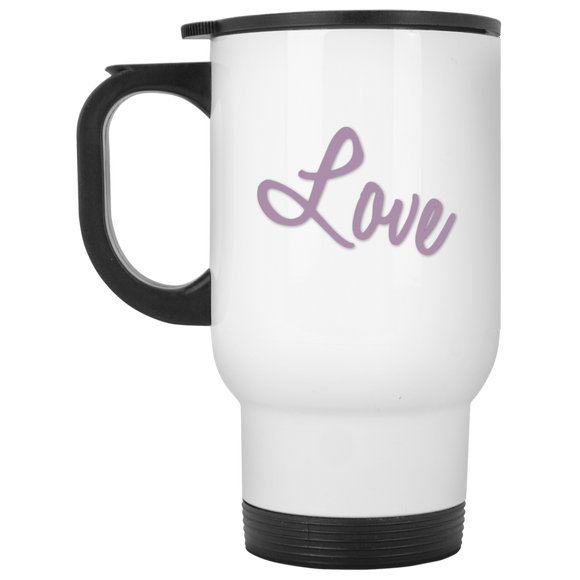 love XP8400W White Travel Mug