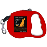 So God Made A Dog BLK Retractable Dog Leash