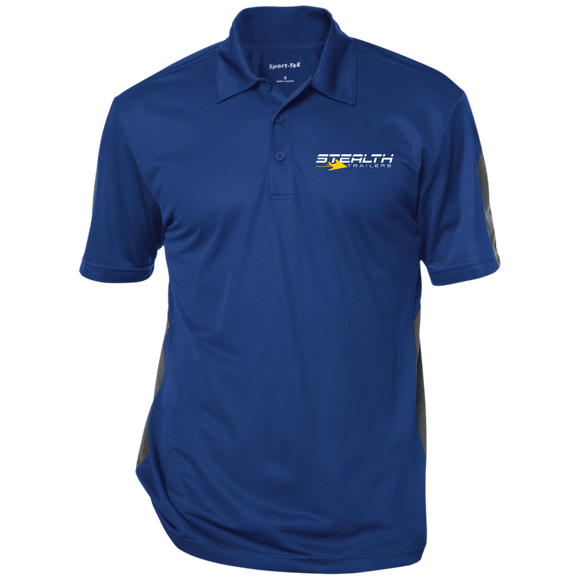 stealth logo cropped ST695 Sport-Tek Performance Textured Three-Button Polo