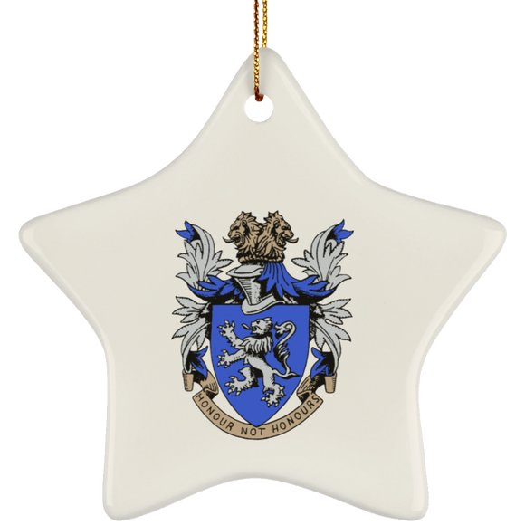 Atlee coat of arms SUBORNS Ceramic Star Ornament