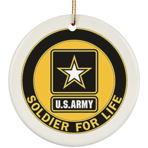Soldier for life T SUBORNC Ceramic Circle Ornament