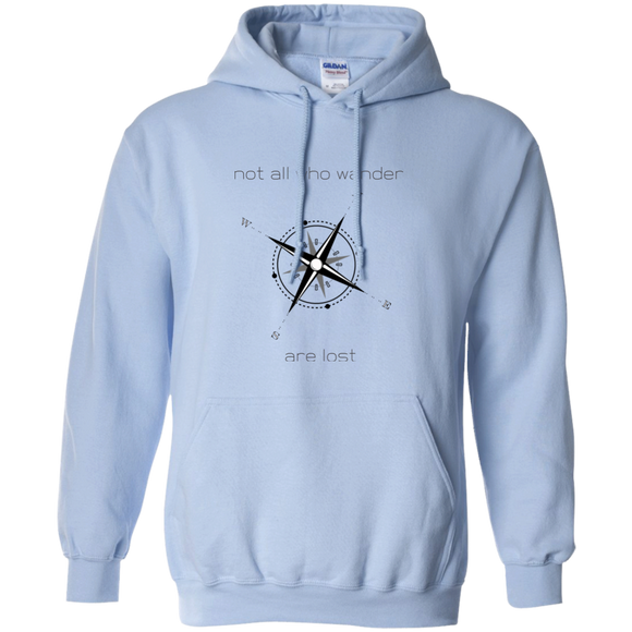 Not All Who Wander Pullover Hoodie 8 oz