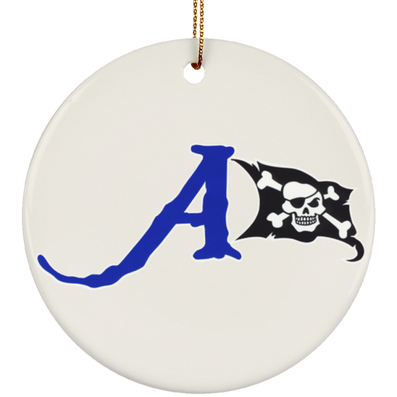 raiders a flag SUBORNC Ceramic Circle Ornament