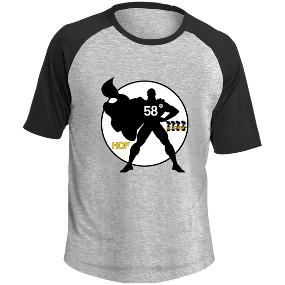 Legendary Men of Steel 58 Adult SS Colorblock Raglan Jersey