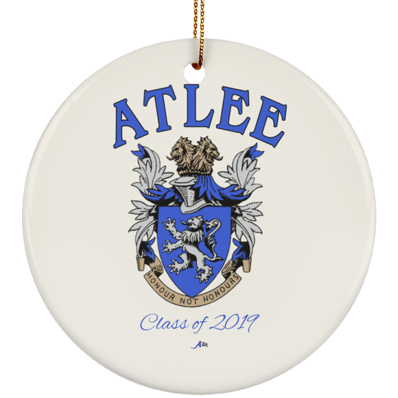 Atlee Crest Personalized SUBORNC Ceramic Circle Ornament