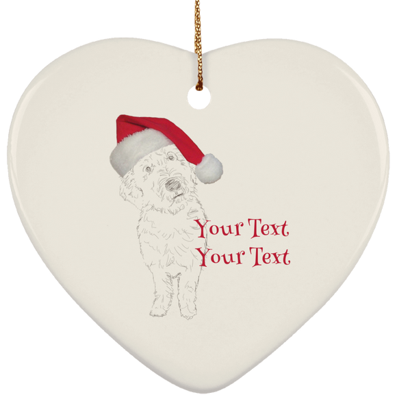 baden with hat personalized SUBORNH Ceramic Heart Ornament
