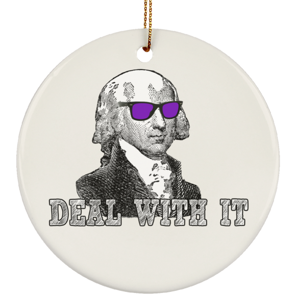 Deal With It trans SUBORNC Ceramic Circle Ornament