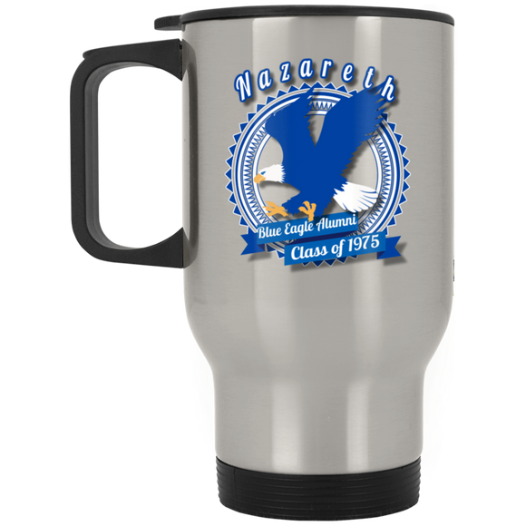Blue eagle alumni badge XP8400S Silver Stainless Travel Mug