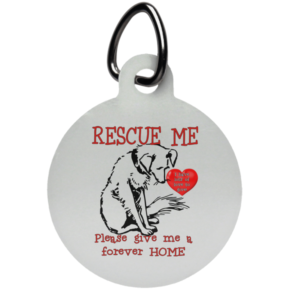 Rescue me UN5773 Circle Pet Tag