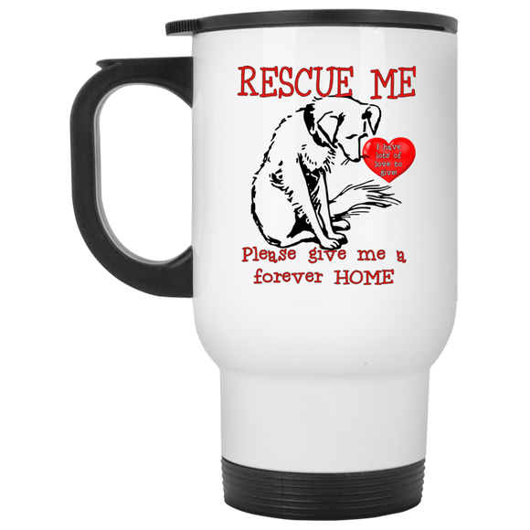 Rescue me XP8400W White Travel Mug