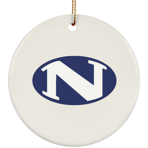 N logo SUBORNC Ceramic Circle Ornament