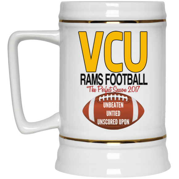Vcu football perfect season 22217 Beer Stein 22oz.